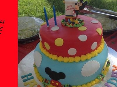 Mickey  Cake, Mickey  Cake Tutorial ,Mickey Cookies, How to make a Mickey Cake - PART 1