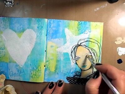 Mixed Media Art Journal Page #20