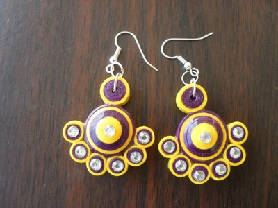 Paper quilling earring -  new design