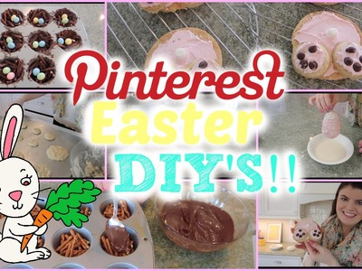 Pinterest Inspired Easter DIY's: Decor & Treats!!