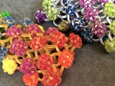 Rainbow Loom™ Button Cuff Charm Bracelet - Variation 2