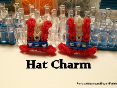 Rainbow Loom Uncle Sam's Top Hat Charm - How to - July 4th