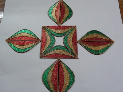 Rangoli with Glitter to create Multi Designs