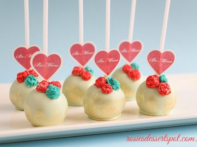 Valentines Day Cake Pop Tutorial - how to Valentines Gift Idea