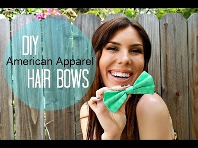 DIY American Apparel Hair Bow + GIVEAWAY