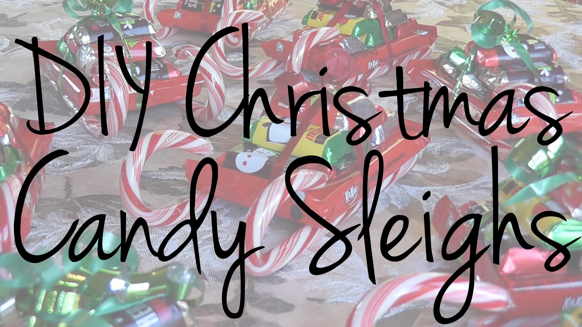 DIY Christmas Candy Sleigh • DIY • Sereina in a Nutshell