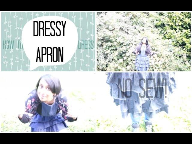 DIY: Dressy Apron - NO SEW!