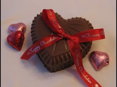 DIY - Easy Homemade Chocolate Valentine's Heart Boxes