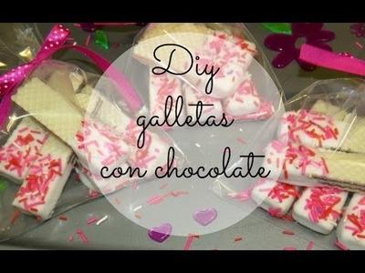DIY GALLETAS Y CHOCOLATE-REGALO PARA AMIGOS ♥