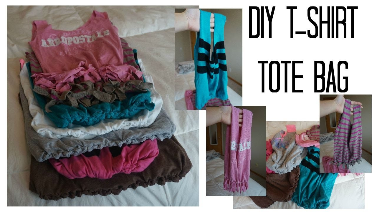 DIY No Sew T-Shirt Tote Bag