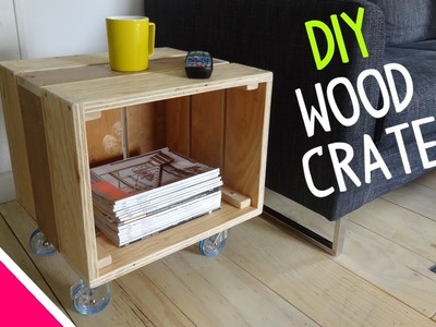 DIY Reclaimed Wood Crate Table - Part 1 of 2