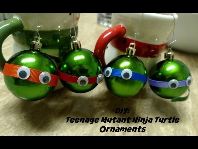 DIY Teenage Mutant Ninja Turtle Ornaments