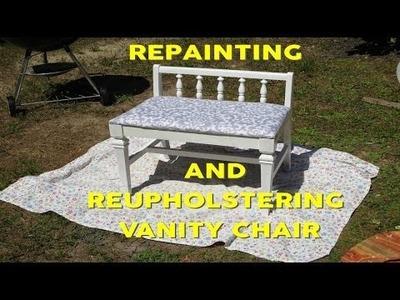DIY VANITY CHAIR REVAMP