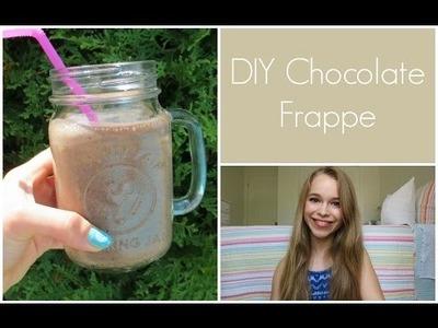 Healthy DIY Chocolate Frappé!
