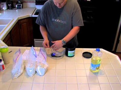 "Mixing up three days worth of DIY ""soylent"" People Chow 3.0.1"