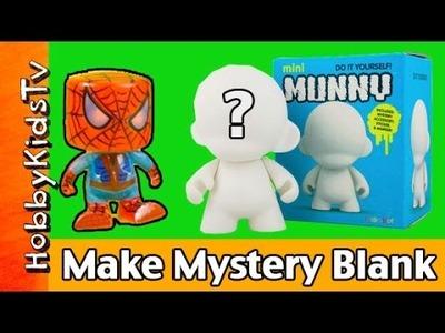 Mystery Blank 2 Kidrobot Munny DIY Spiderman Venom Hulk HobbyKidsTV