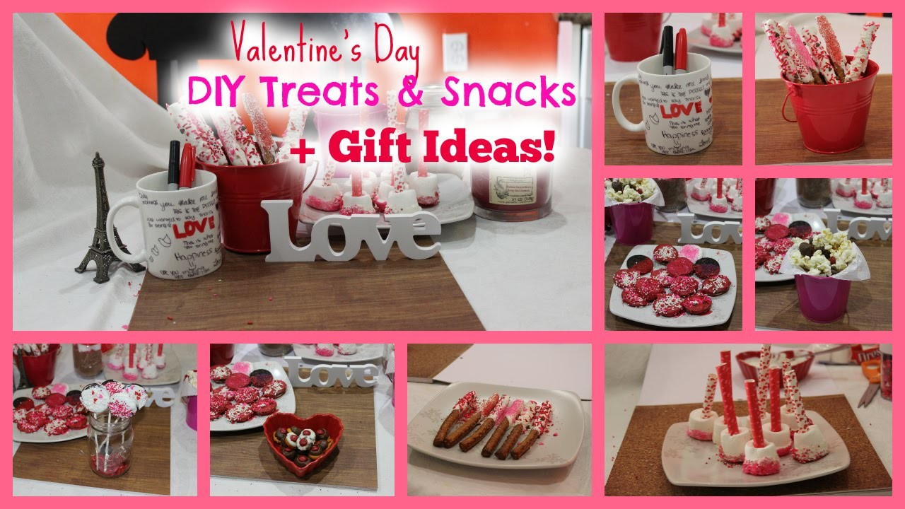 Valentines Day DIY Treats & Snacks + Gift Ideas!