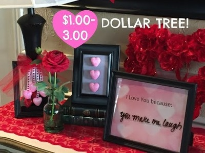 $3.00 DOLLAR TREE DIY |  Valentine's Day Picture Frames