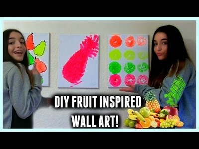 DIY fruit inspired wall art!