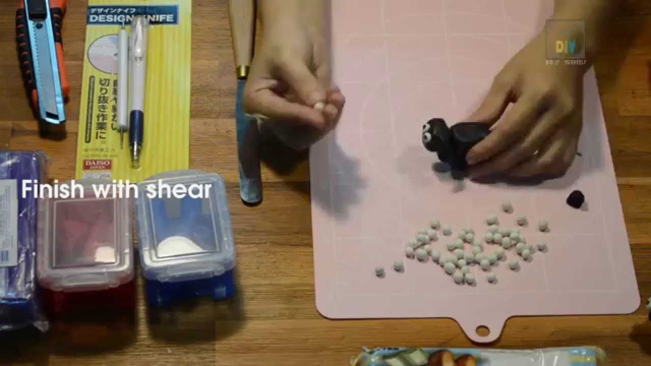 DIY How to make Shaun the Sheep with clay