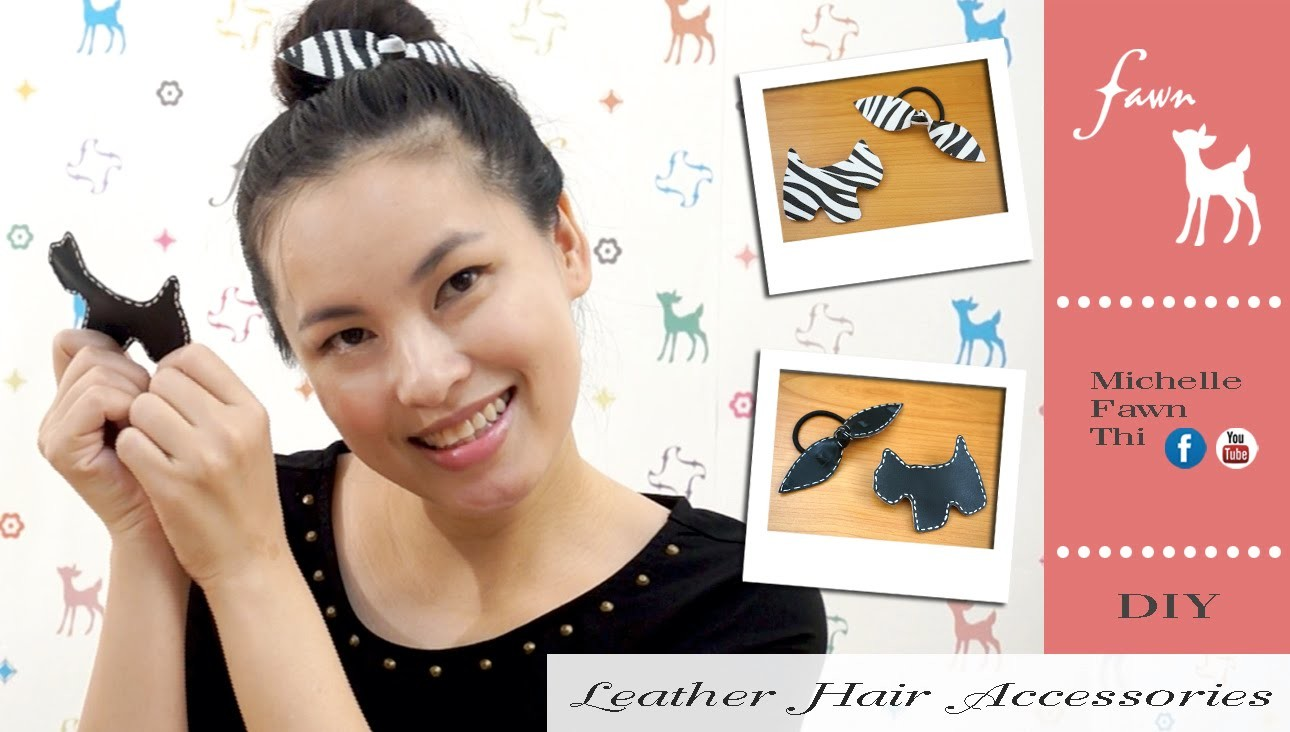 DIY Leather Hair Accessories by FAWN