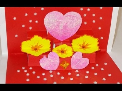 DIY Pop-Up Handmade Cards : Valentine Greeting Card for Your Love|Gift Idea for Girlfriend.Boyfriend