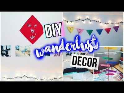 DIY Wanderlust Room Decor || Tumblr & UO Inspired || Spirited Gal