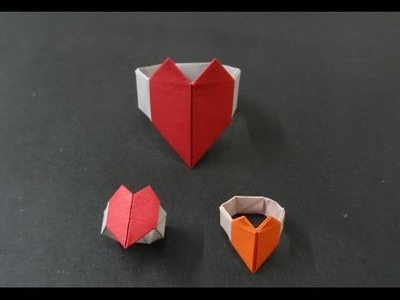 Origami Heart Tutorial: How to fold an Origami Heart Bracelet