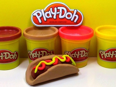 Play-Doh Hot Dog Play Doh Fast Food DIY