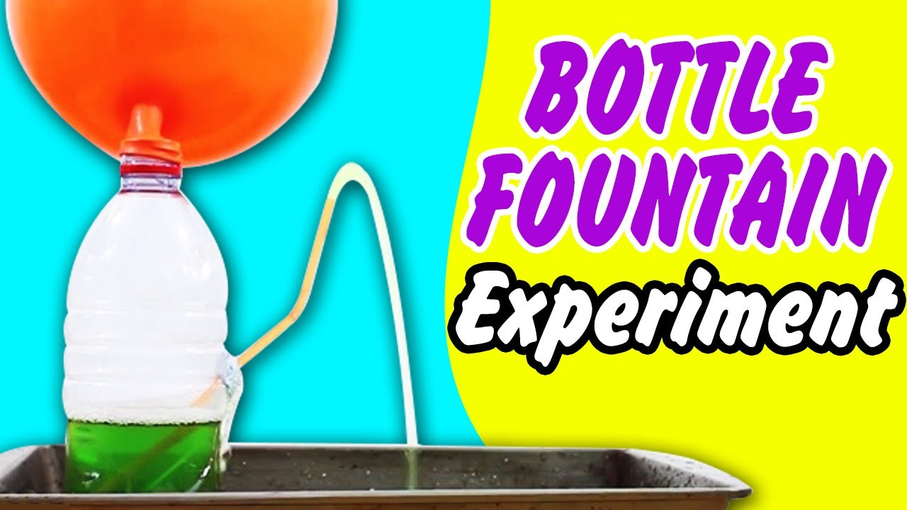 Science Experiment That You Can Try At Home | Bottle Fountain DIY Science Experiment - HooplakidzLab