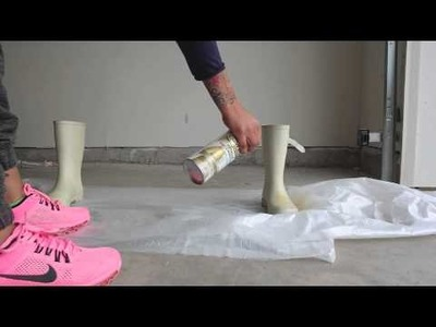 DIY Boot Color Change with Spray Paint