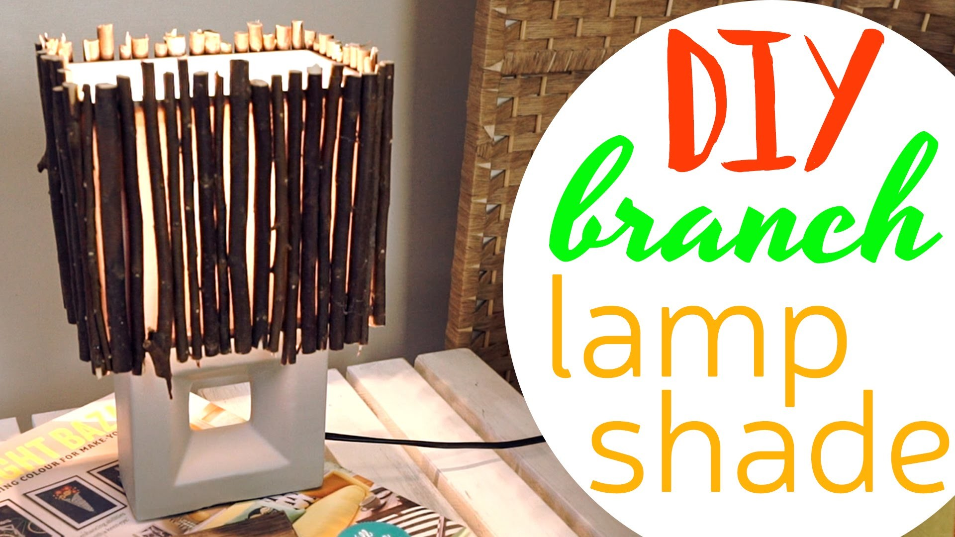 DIY: Branch Lamp Shade - Creativewithlove.com