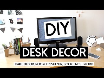 DIY Desk Decor! Picture Display, Book Ends, Room Freshener + GIVEAWAY