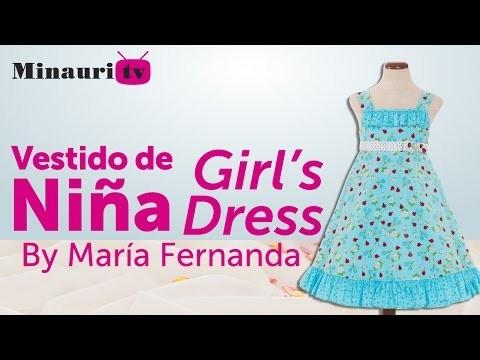 DIY -  Girl Dress - Vestido Niña - Vestito Bambina - Robe Fille - Mädchen-Kleid