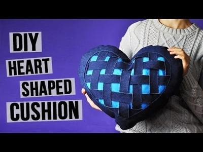 DIY Heart Shaped Denim Cushion
