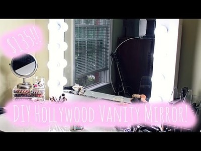 ♡DIY Hollywood Style Vanity Mirror PLUS how to do the electrical!♡