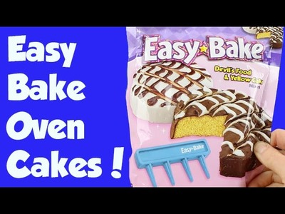 Easy Bake Oven Fancy Swirl Chocolate and Yellow Cake How To DIY
