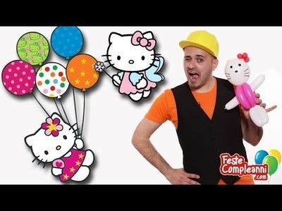 Hello Kitty Balloon - Palloncino Hello Kitty- Tutorial 89 - Feste Compleanni