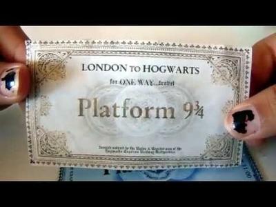 Hogwarts 9 3.4 Train Ticket - DIY