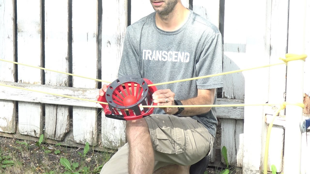 How to make a DIY giant backyard slingshot