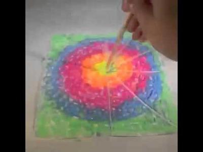 Tie Dye Blacklight Canvas DIY Vine