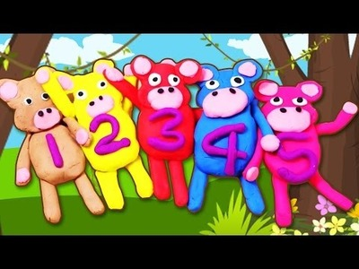 5 Little Monkeys Play Doh Creation | Fun with Play-Doh | Easy DIY Play Doh Video Tutorials