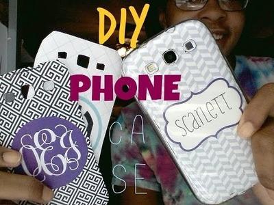 D.I.Y Monogram Phone Case