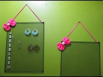 DIY : #116 Cute EARRING Holder ♥