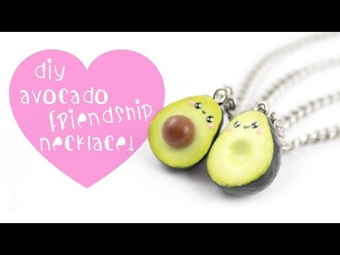 DIY Avocado Friendship Necklace.charms ! | Kawaii Friday