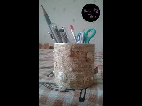 DIY - how to use tin for decoration and organization