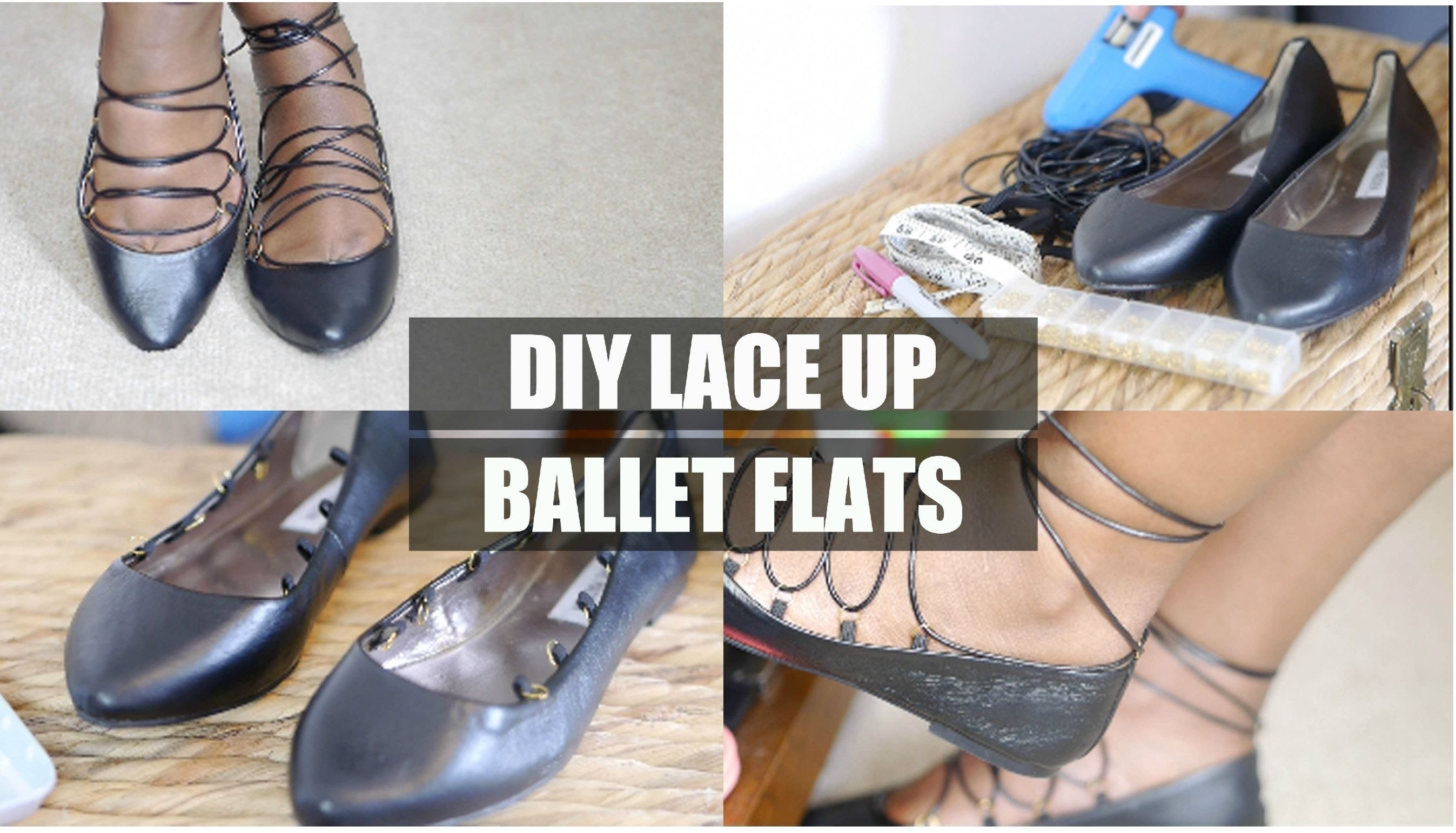 DIY Lace Up Flats