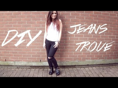 DIY │Ripped Jeans ▵ Alyssia〖French with English Subtitles〗