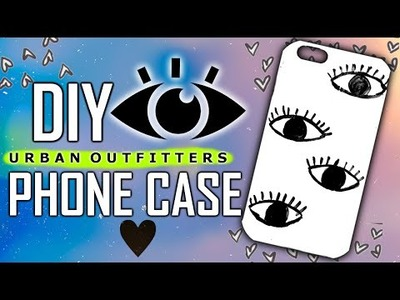 DIY URBAN OUTFITTERS PHONE CASE + TIE DYE ,EVIL EYE  TUMBLR PHONE CASE