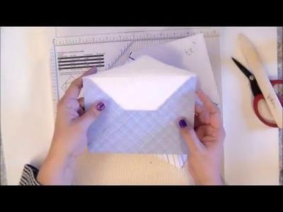 DIY - Use Martha Stewart Scor Board to make envelopes! Justafeww